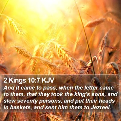 2 Kings 10:7 KJV Bible Verse Image