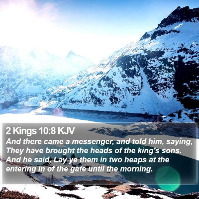 2 Kings 10:8 KJV Bible Verse Image