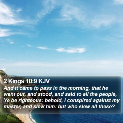 2 Kings 10:9 KJV Bible Verse Image