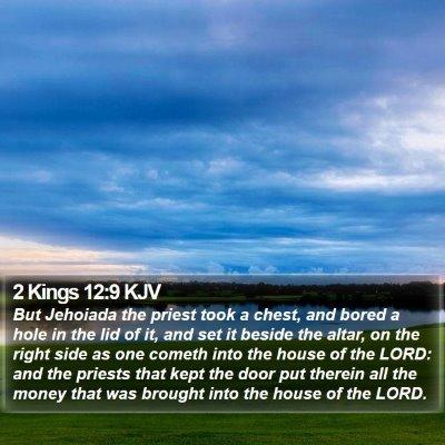 2 Kings 12:9 KJV Bible Verse Image