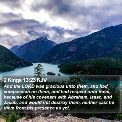 2 Kings 13:23 KJV Bible Verse Image