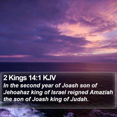 2 Kings 14:1 KJV Bible Verse Image