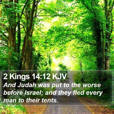 2 Kings 14:12 KJV Bible Verse Image