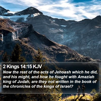 2 Kings 14:15 KJV Bible Verse Image