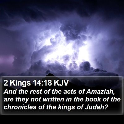2 Kings 14:18 KJV Bible Verse Image