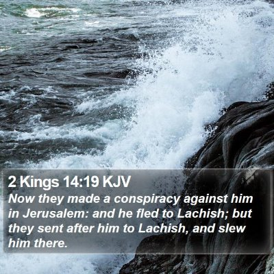 2 Kings 14:19 KJV Bible Verse Image