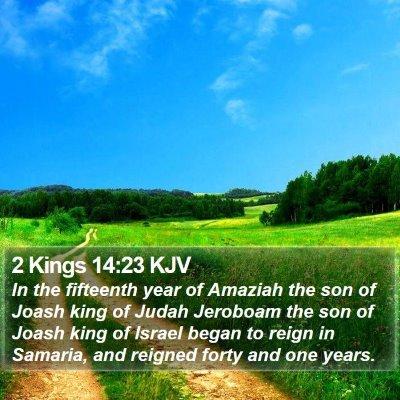 2 Kings 14:23 KJV Bible Verse Image