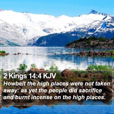 2 Kings 14:4 KJV Bible Verse Image