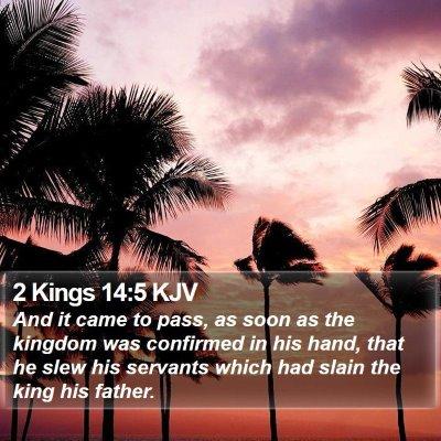 2 Kings 14:5 KJV Bible Verse Image