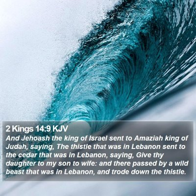 2 Kings 14:9 KJV Bible Verse Image