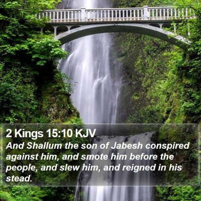 2 Kings 15:10 KJV Bible Verse Image