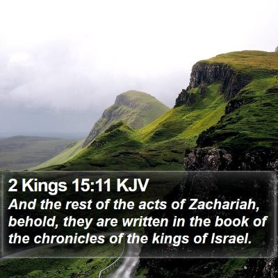 2 Kings 15:11 KJV Bible Verse Image
