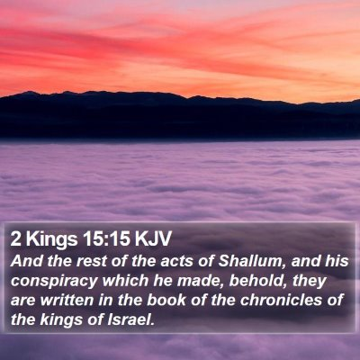 2 Kings 15:15 KJV Bible Verse Image