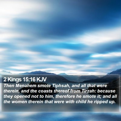 2 Kings 15:16 KJV Bible Verse Image