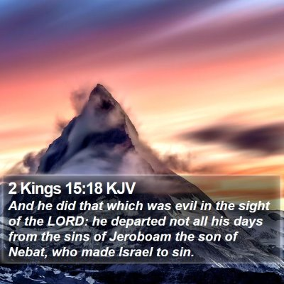 2 Kings 15:18 KJV Bible Verse Image
