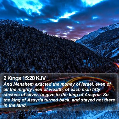 2 Kings 15:20 KJV Bible Verse Image