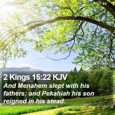 2 Kings 15:22 KJV Bible Verse Image