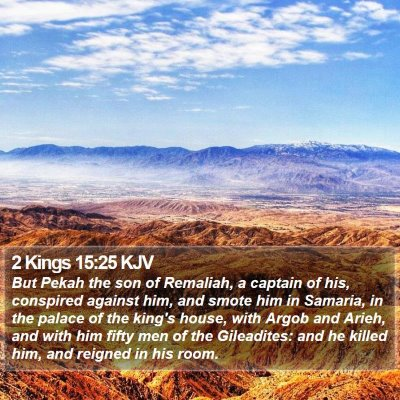 2 Kings 15:25 KJV Bible Verse Image