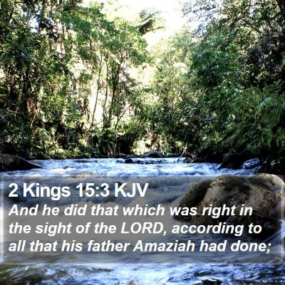 2 Kings 15:3 KJV Bible Verse Image