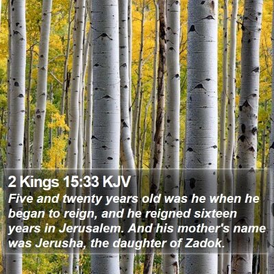 2 Kings 15:33 KJV Bible Verse Image