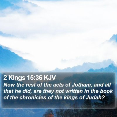 2 Kings 15:36 KJV Bible Verse Image