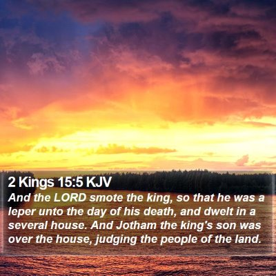 2 Kings 15:5 KJV Bible Verse Image