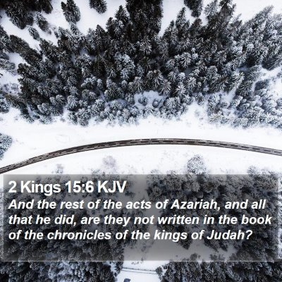 2 Kings 15:6 KJV Bible Verse Image