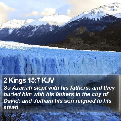 2 Kings 15:7 KJV Bible Verse Image