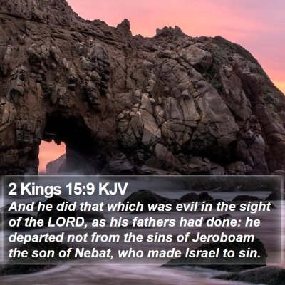 2 Kings 15:9 KJV Bible Verse Image