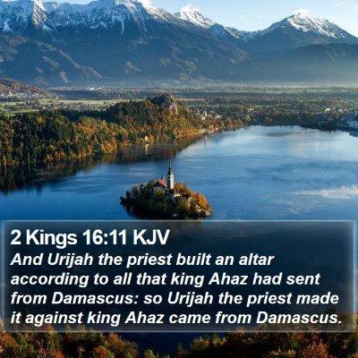 2 Kings 16:11 KJV Bible Verse Image
