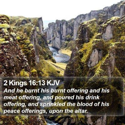 2 Kings 16:13 KJV Bible Verse Image