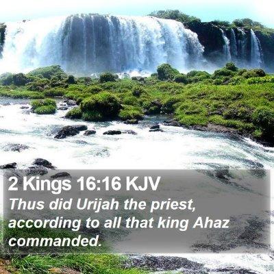 2 Kings 16:16 KJV Bible Verse Image