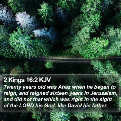 2 Kings 16:2 KJV Bible Verse Image