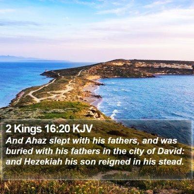 2 Kings 16:20 KJV Bible Verse Image