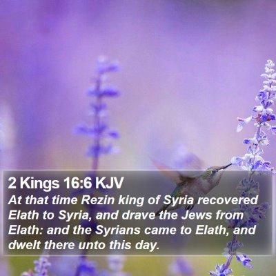 2 Kings 16:6 KJV Bible Verse Image