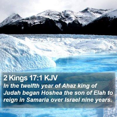 2 Kings 17:1 KJV Bible Verse Image