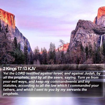 2 Kings 17:13 KJV Bible Verse Image