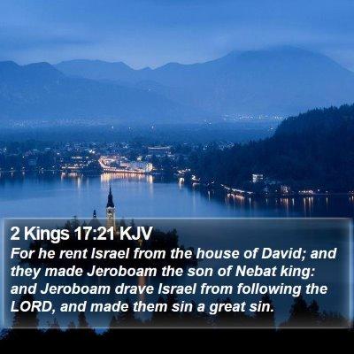 2 Kings 17:21 KJV Bible Verse Image