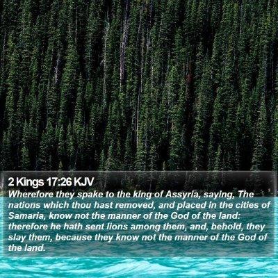 2 Kings 17:26 KJV Bible Verse Image