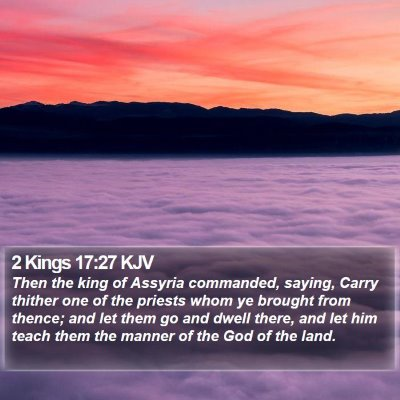 2 Kings 17:27 KJV Bible Verse Image