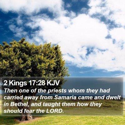 2 Kings 17:28 KJV Bible Verse Image