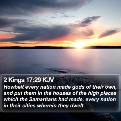 2 Kings 17:29 KJV Bible Verse Image