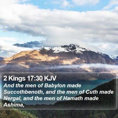 2 Kings 17:30 KJV Bible Verse Image