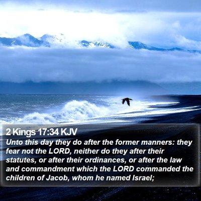 2 Kings 17:34 KJV Bible Verse Image