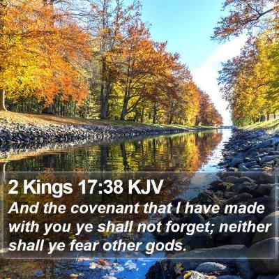 2 Kings 17:38 KJV Bible Verse Image