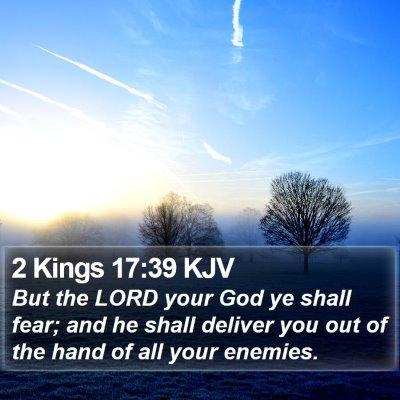 2 Kings 17:39 KJV Bible Verse Image