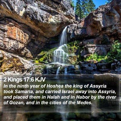 2 Kings 17:6 KJV Bible Verse Image