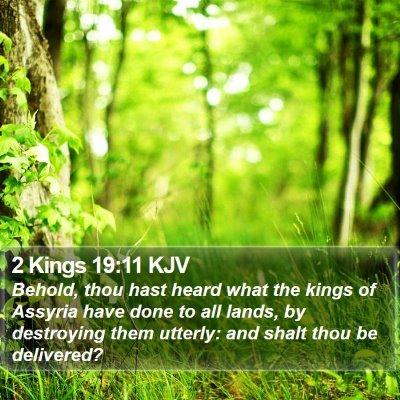 2 Kings 19:11 KJV Bible Verse Image
