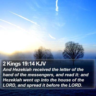 2 Kings 19:14 KJV Bible Verse Image