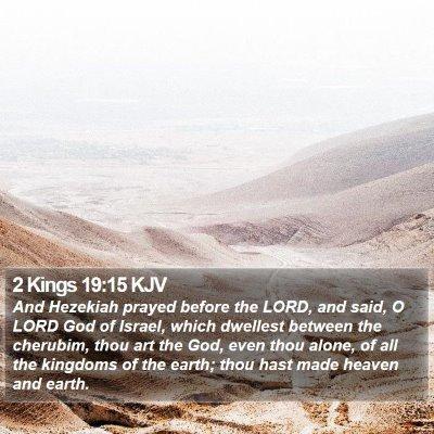 2 Kings 19:15 KJV Bible Verse Image